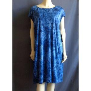 Ralph Lauren NWT Indigo Linen Knit Dress 3X